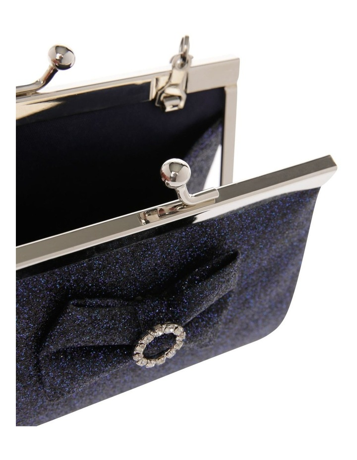 Navy Glitter Purse with Pearl Carry Strap image 3
