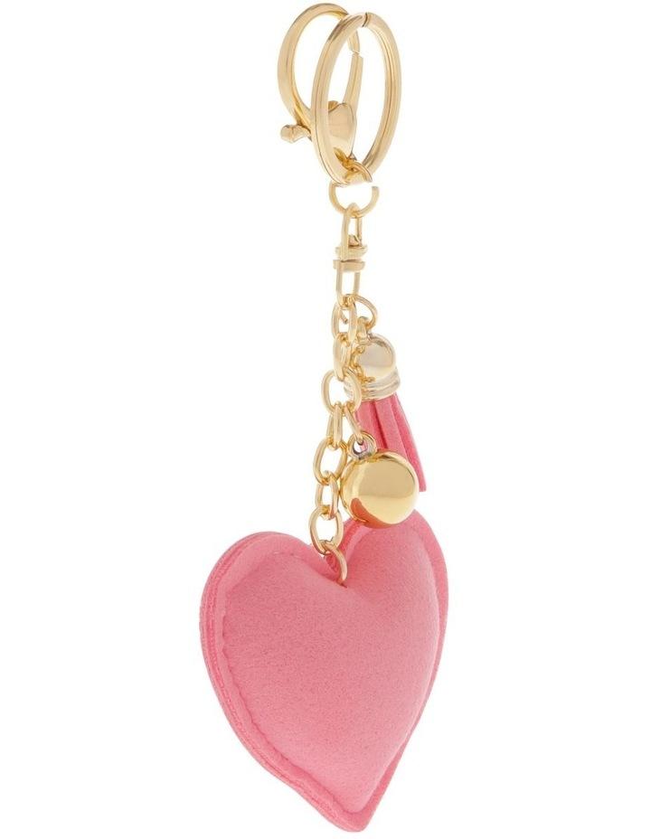 Rainbow Heart Diamonte Keyring image 2
