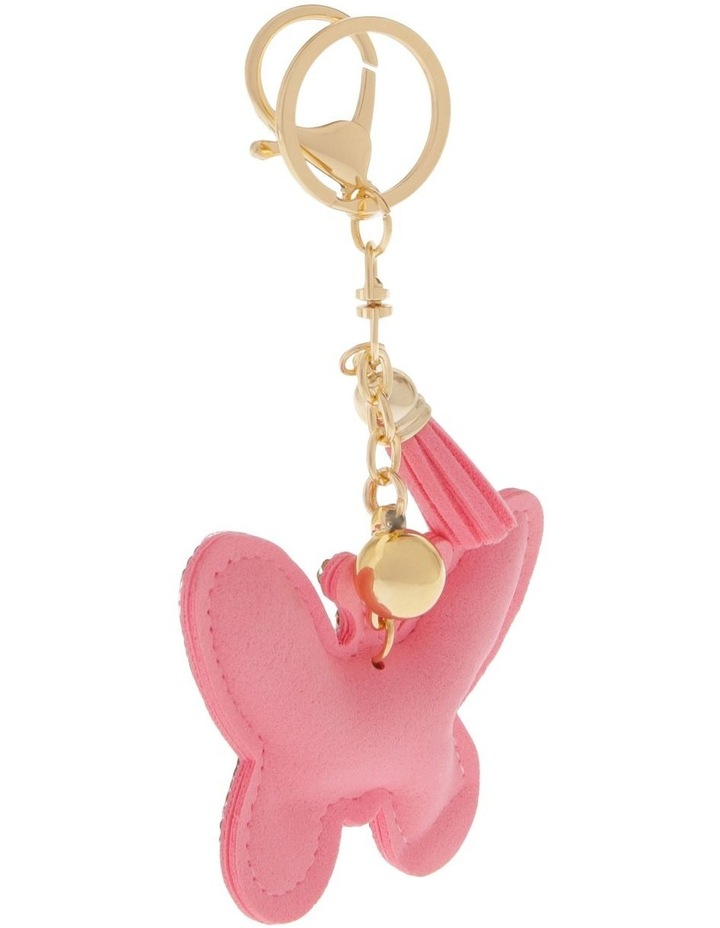 Multicolour Butterfly Diamonte Keyring image 2