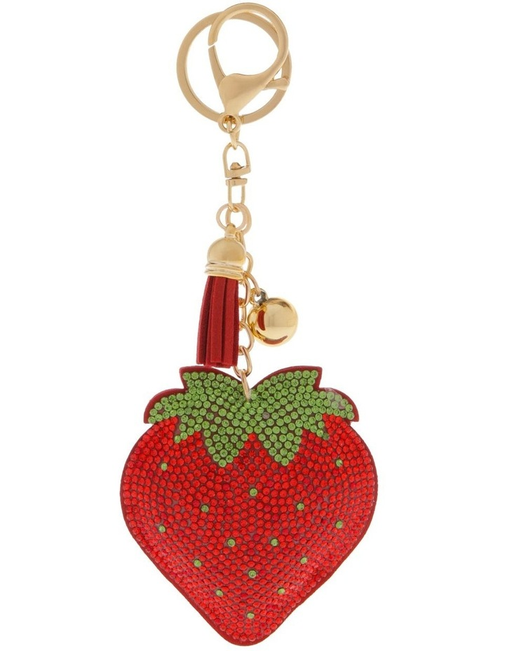 Strawberry Diamonte Keyring image 1