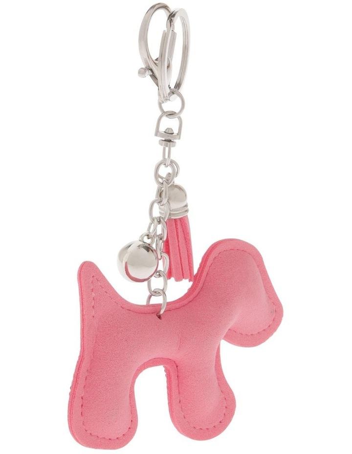 Pink Dog Diamonte Keyring image 2