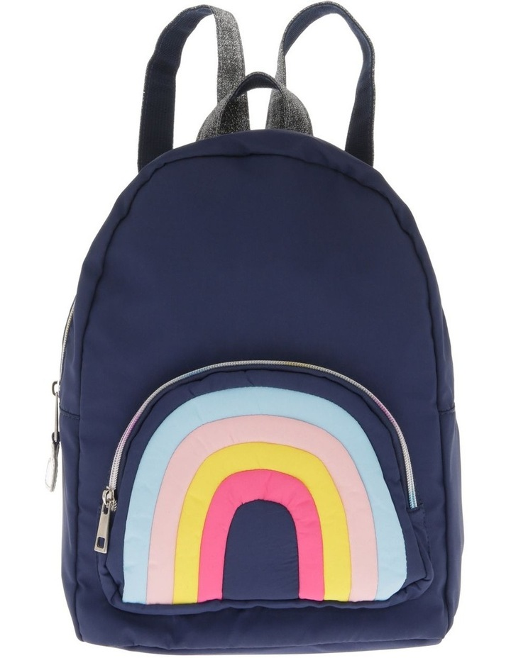 Girls Rainbow Navy Backpack image 1