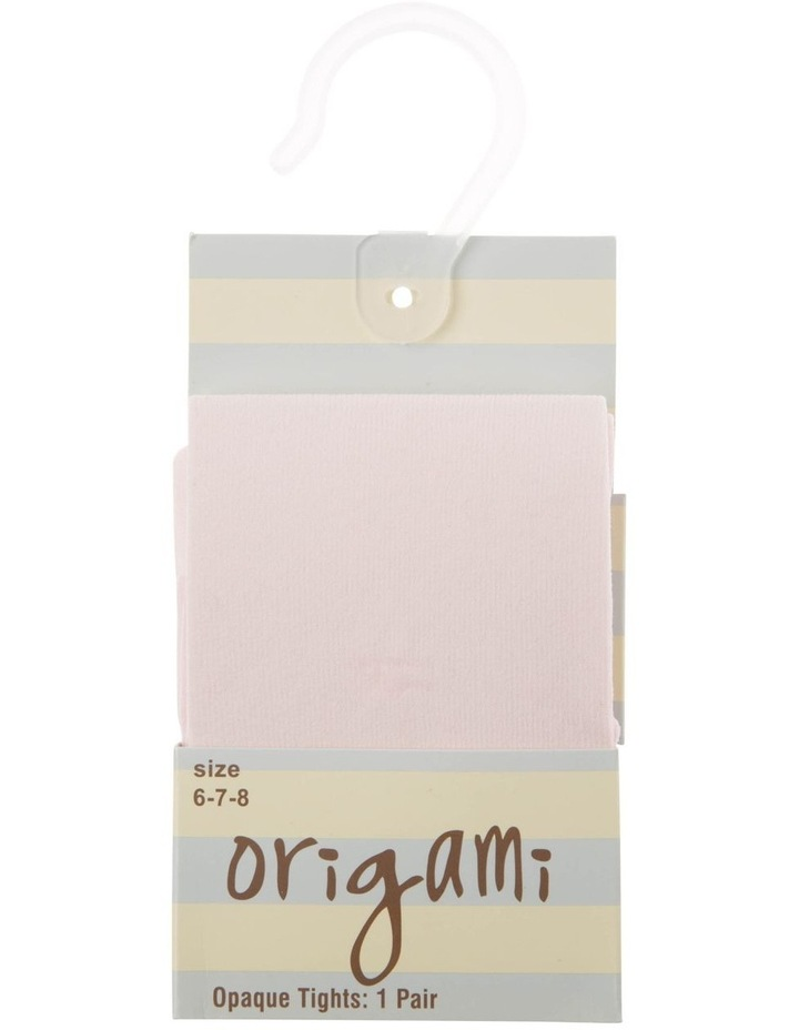 Junior Opaque Pink Tights image 1