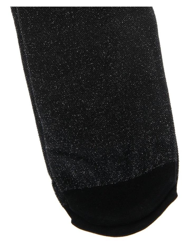 Senior Lurex Black and Silver Tights image 3