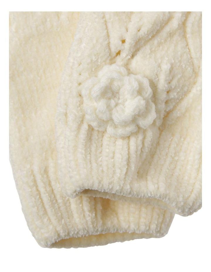 Girls Chenille Cream Glove image 2