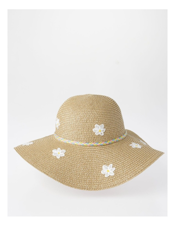 Rafia Embroidered Daisy Hat image 1