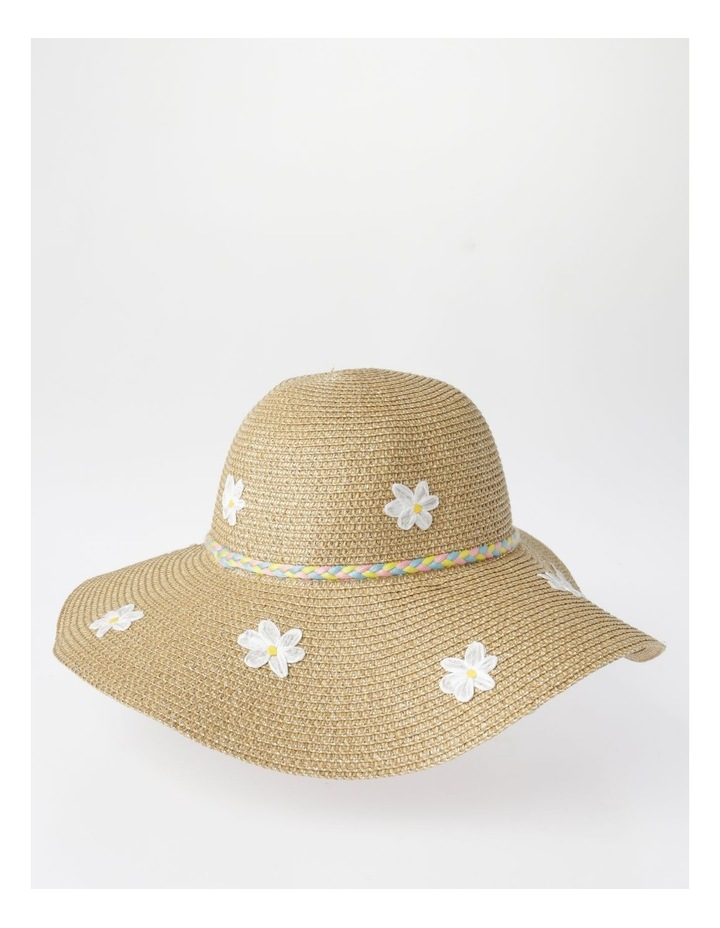 Rafia Embroidered Daisy Hat image 2