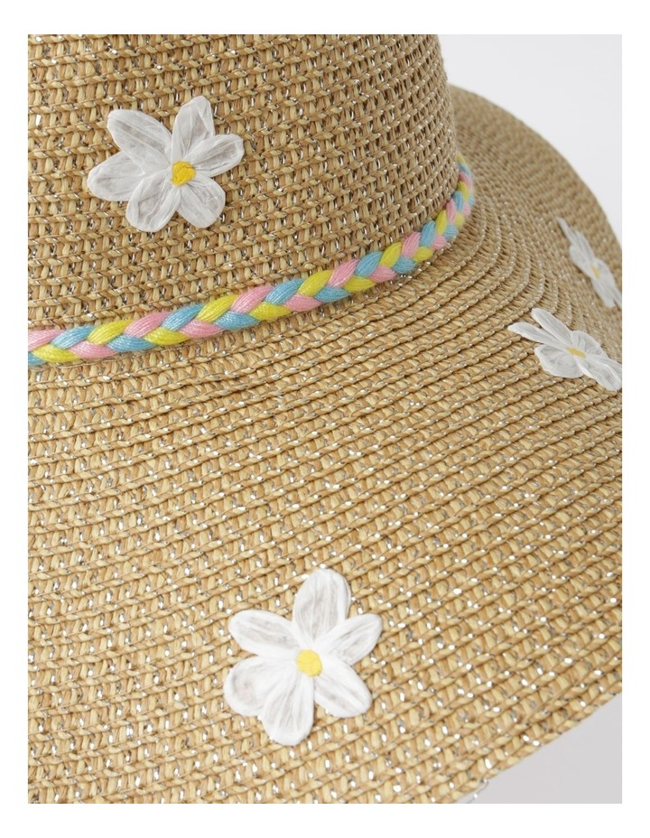 Rafia Embroidered Daisy Hat image 3