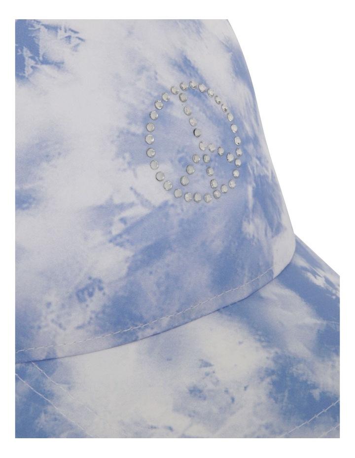 Tie-Dye Cap with Diamant Peace Symbol image 4