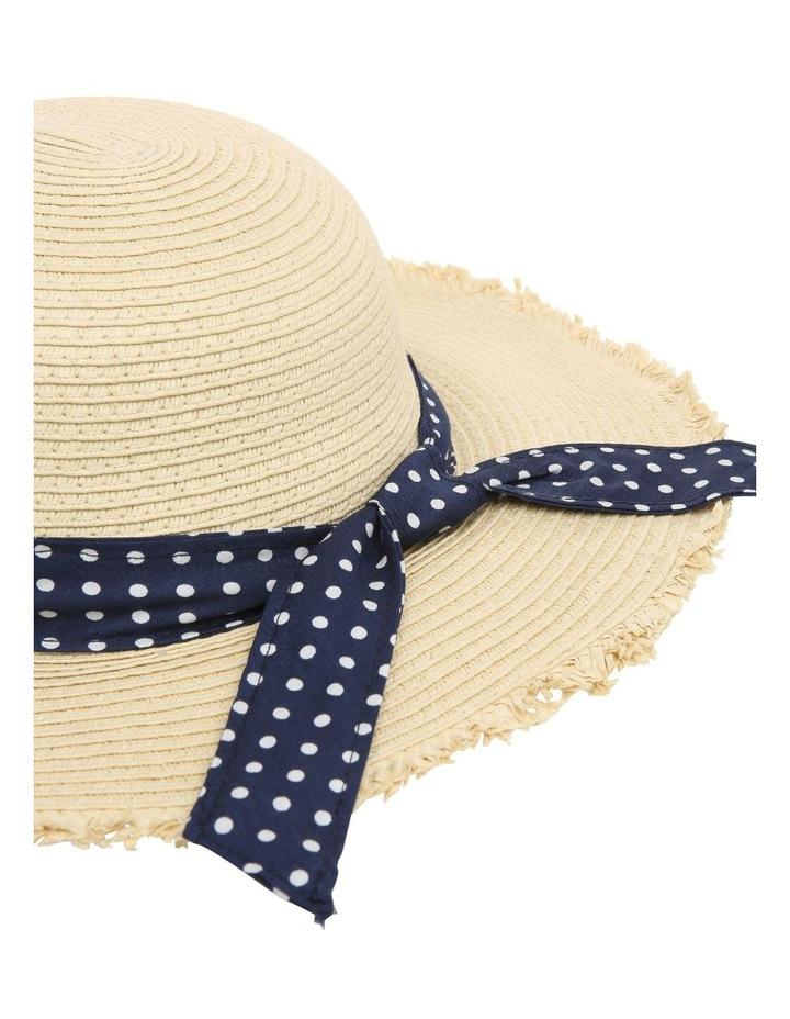 Natural Straw Hat with Polkadot Band image 2