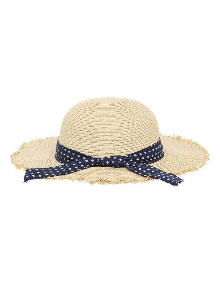 Natural Straw Hat with Polkadot Band image 4
