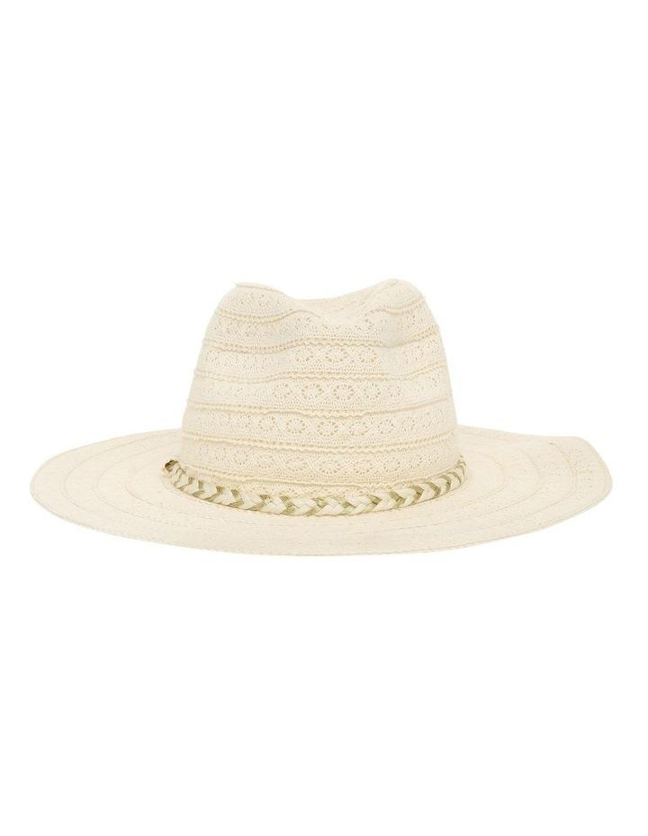 Cotton Lace Trim Hat image 1