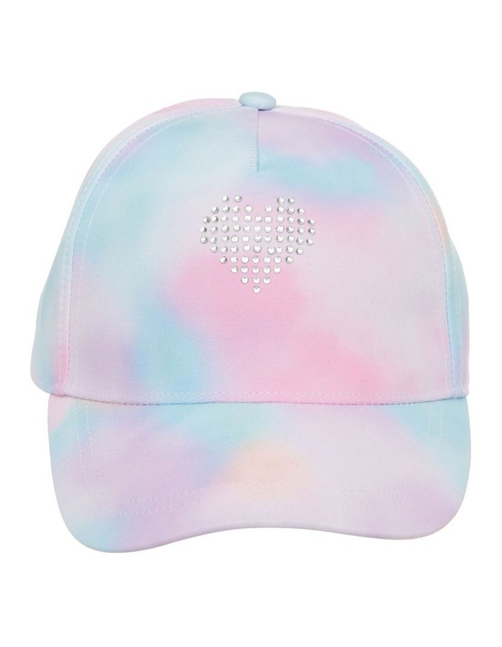 Tie-Dye Cap with Diamant Heart image 1