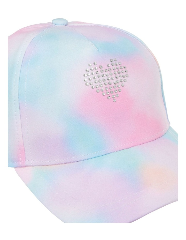 Tie-Dye Cap with Diamant Heart image 2