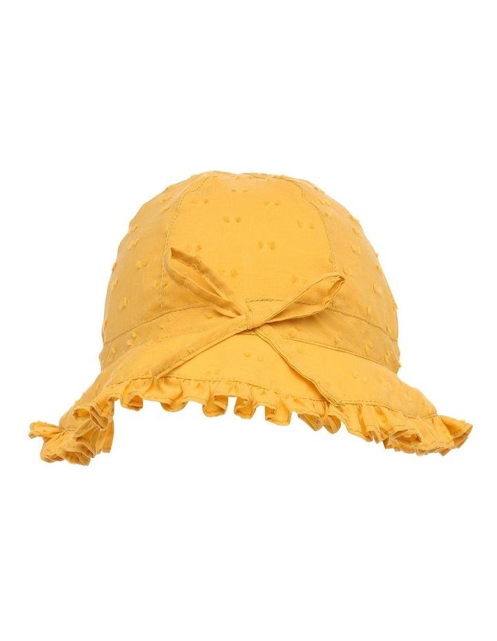 Mustard Hailspot Frill Hat image 1