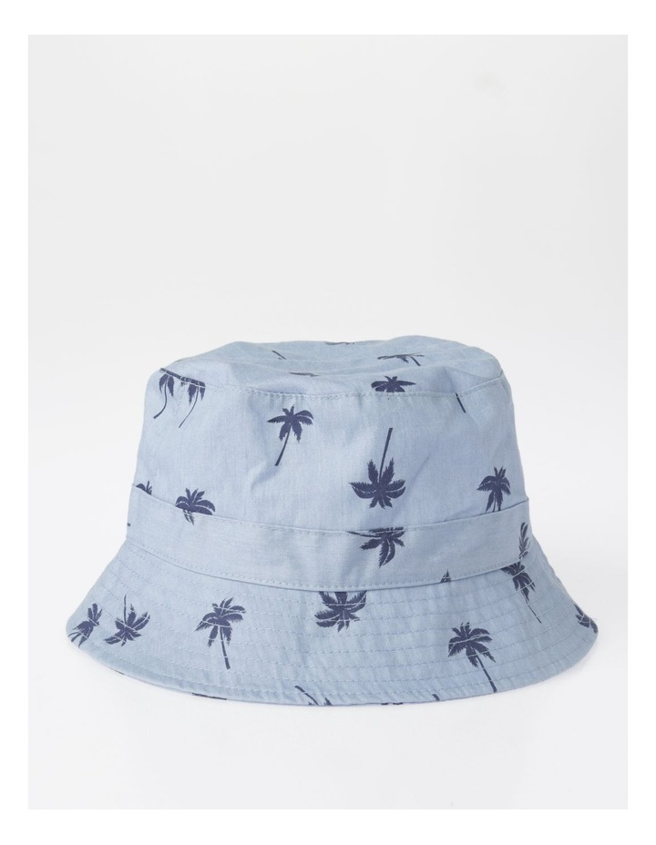 Chambray Palm Tree Bucket Hat image 1