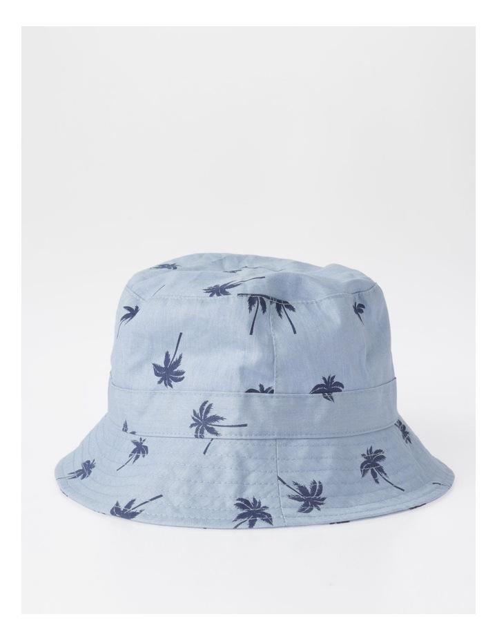Chambray Palm Tree Bucket Hat image 2