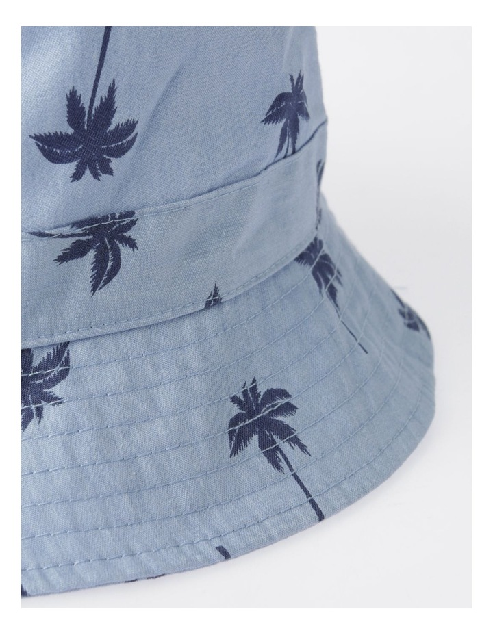Chambray Palm Tree Bucket Hat image 3