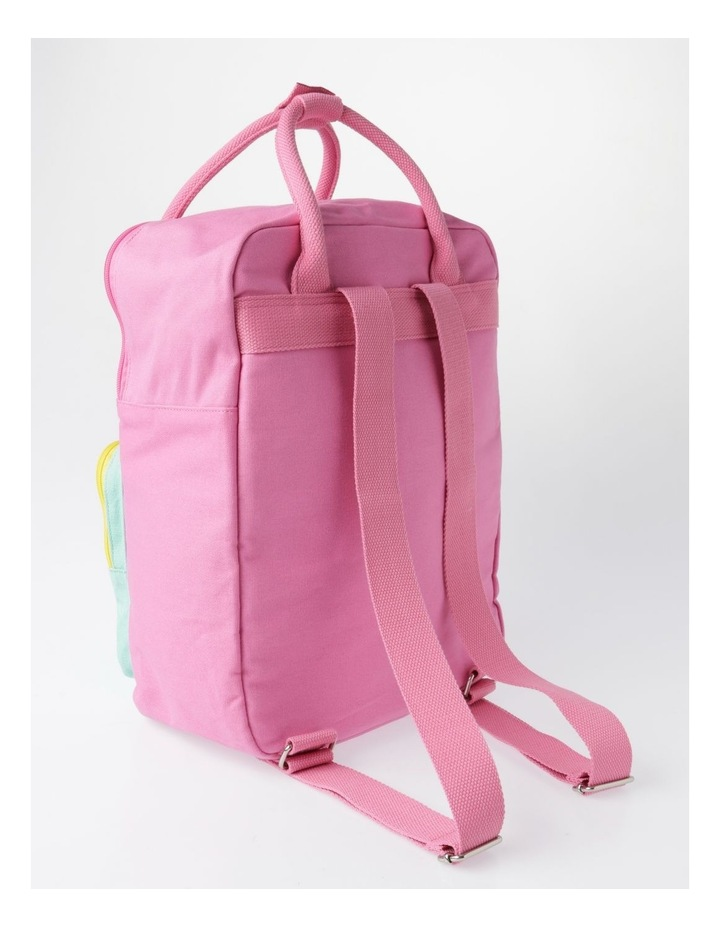 Canvas Colour Blocked Backpack image 2