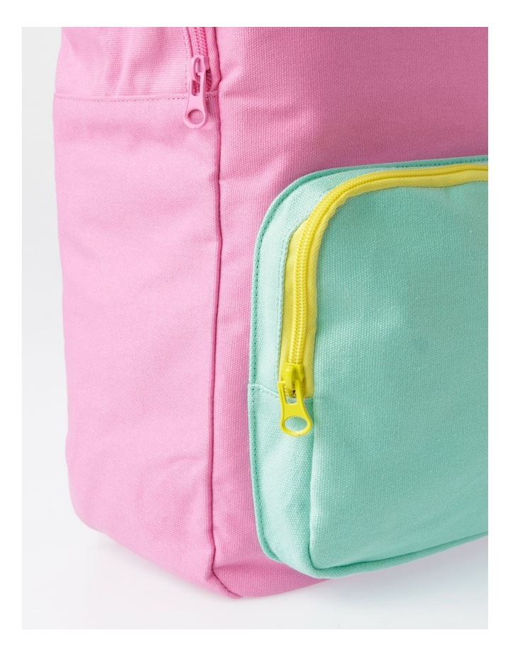 Canvas Colour Blocked Backpack image 3