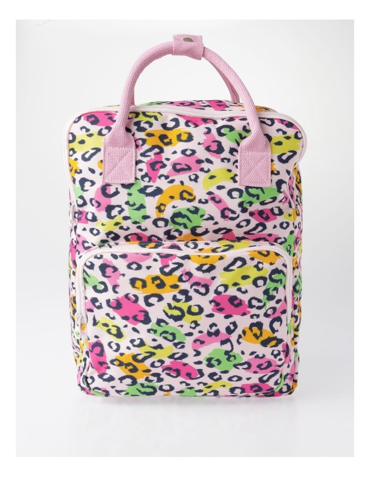 Canvas Leopard Print Backpack image 1