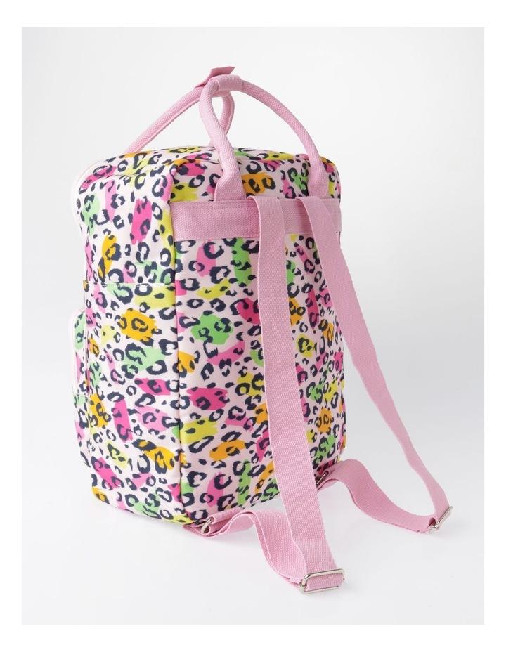 Canvas Leopard Print Backpack image 2