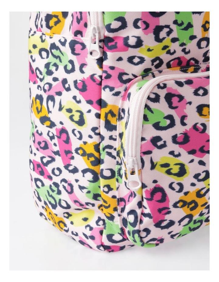Canvas Leopard Print Backpack image 3