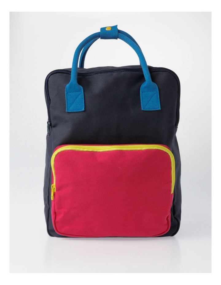 Canvas Colour Blocked Backpack image 1