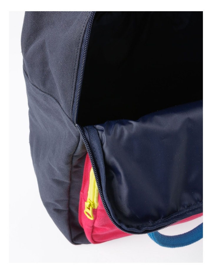 Canvas Colour Blocked Backpack image 4