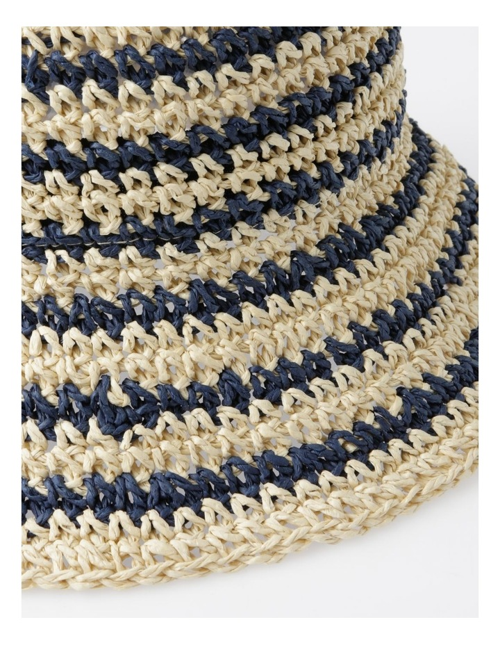 Striped Weaved Sunhat image 2