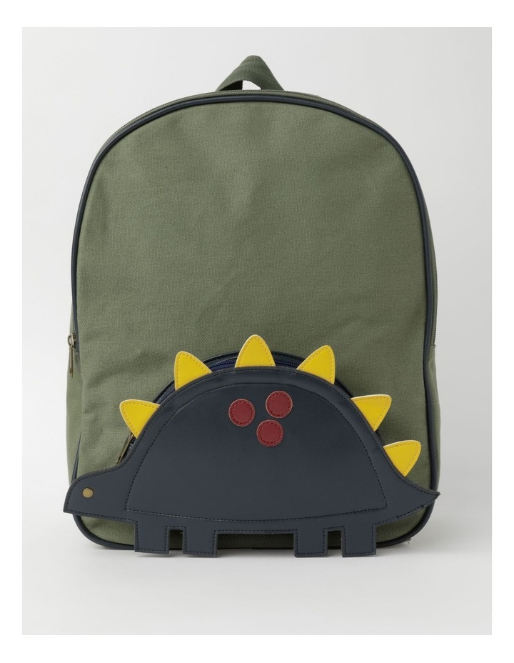 3D Dinosaur Khaki Backpack image 1