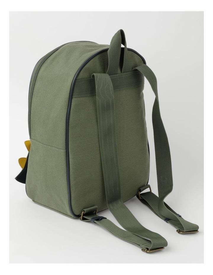 3D Dinosaur Khaki Backpack image 2
