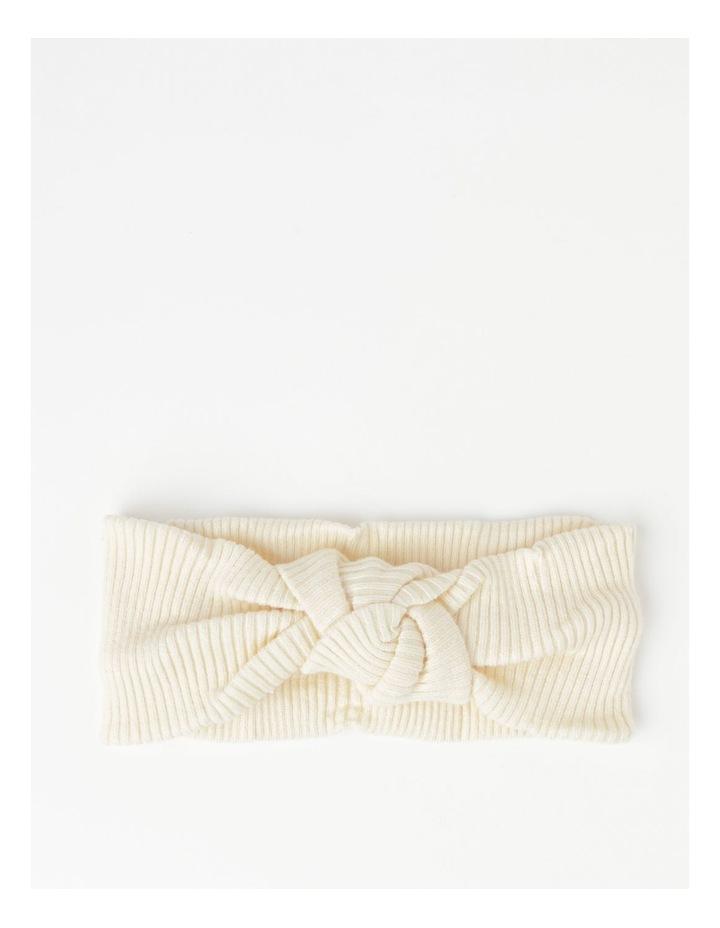White Headband with Oversized Bow image 1