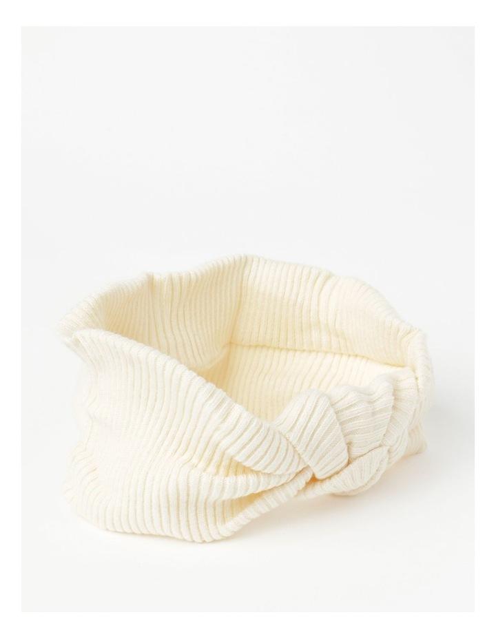 White Headband with Oversized Bow image 2