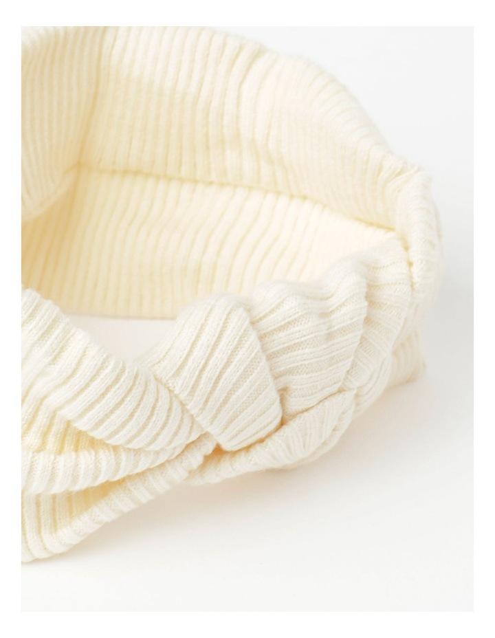 White Headband with Oversized Bow image 3
