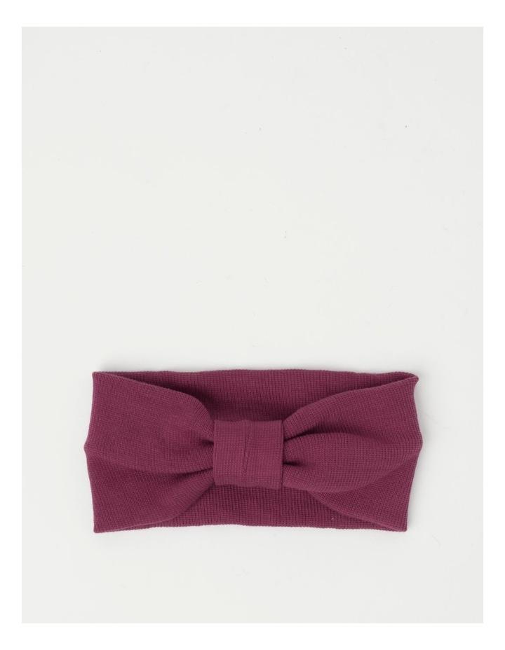 Burgundy Soft Knot Headband image 1