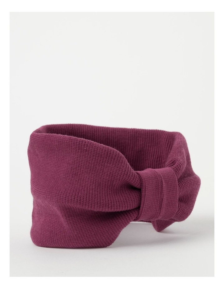 Burgundy Soft Knot Headband image 2