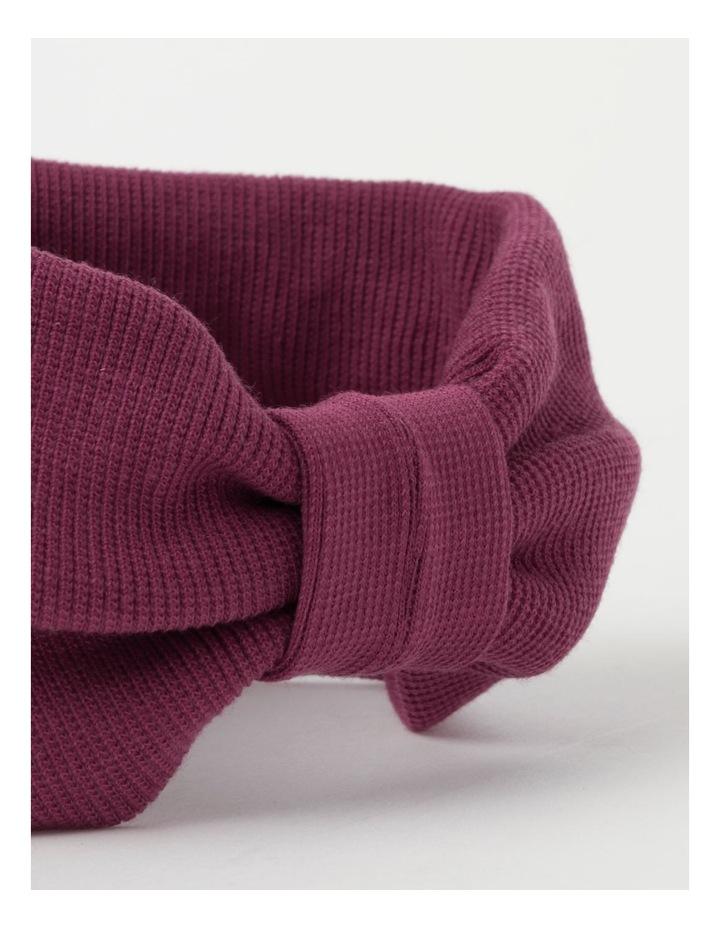 Burgundy Soft Knot Headband image 3