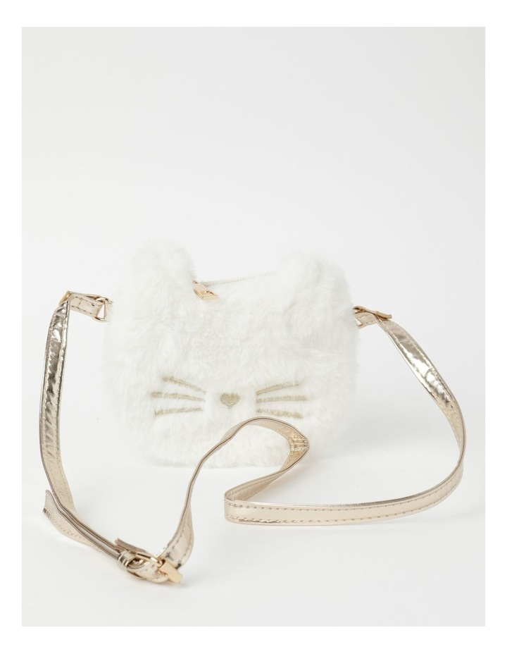 Faux Fur Cat Cream Crossbody Bag image 1