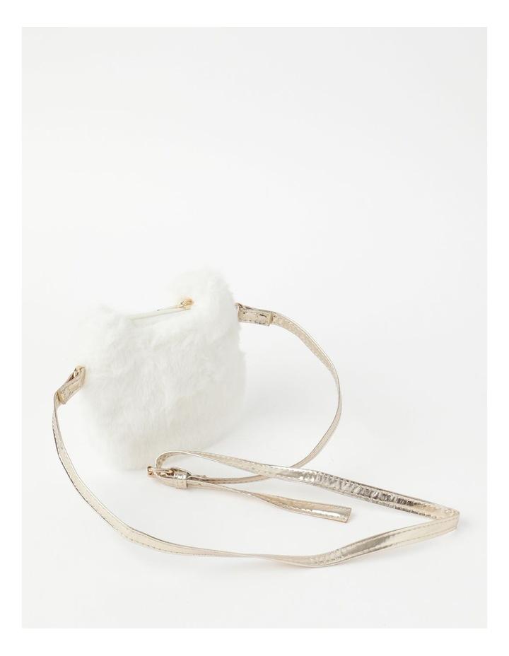 Faux Fur Cat Cream Crossbody Bag image 2