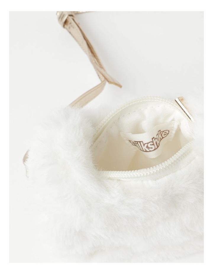 Faux Fur Cat Cream Crossbody Bag image 3
