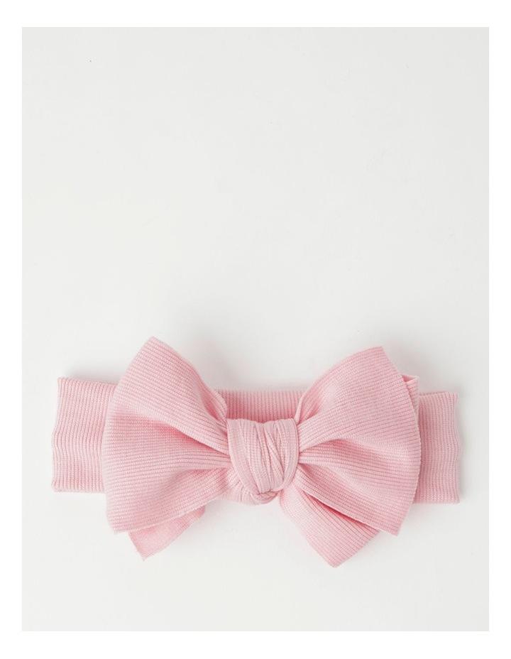 Light Pink Headband with Rib Bow image 1