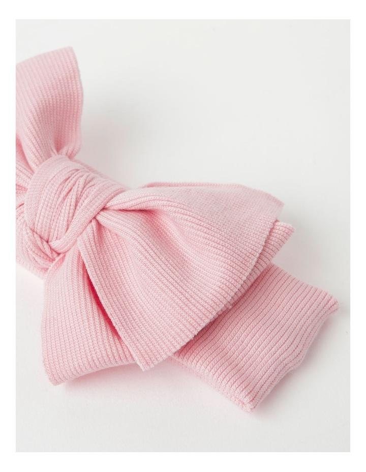 Light Pink Headband with Rib Bow image 3