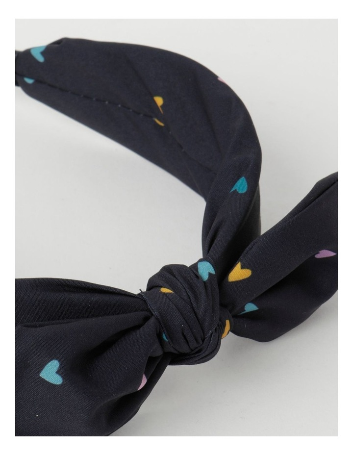 Navy Headband with Bow image 4