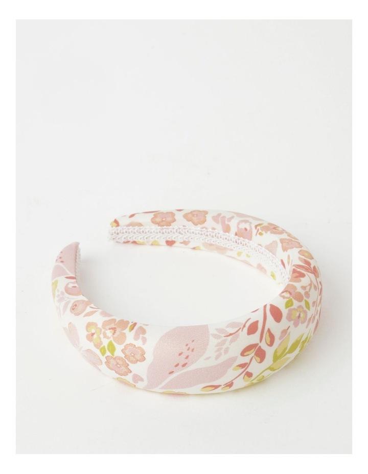 White Floral Padded Headband image 1
