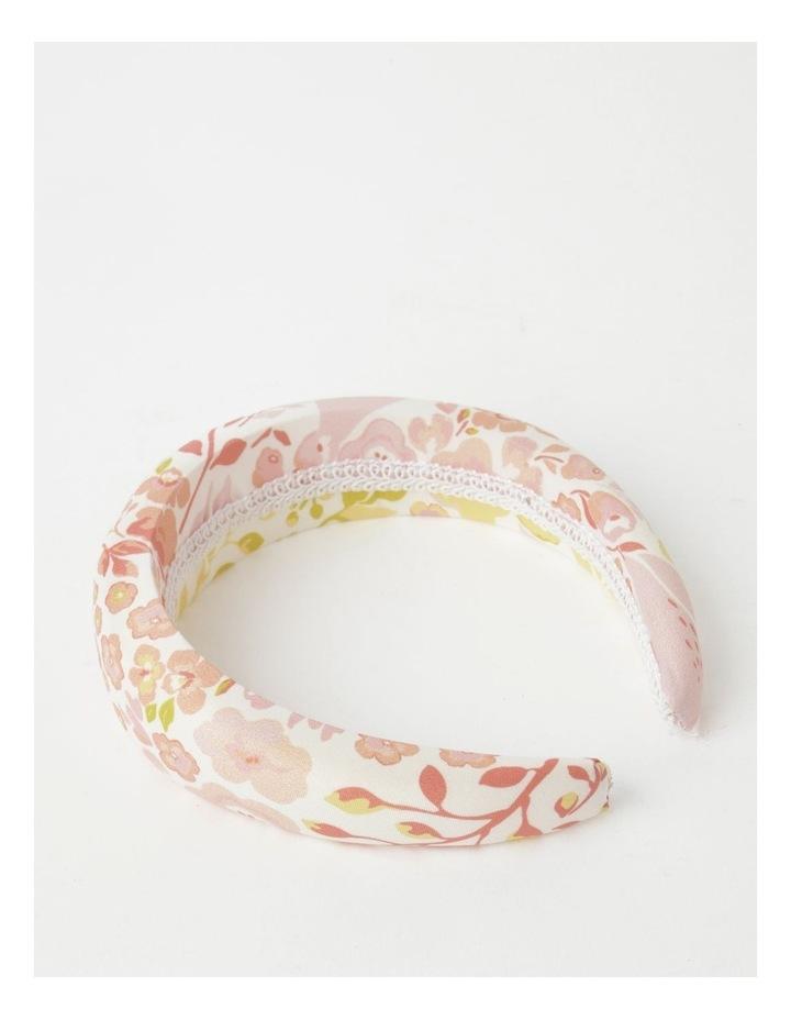 White Floral Padded Headband image 3