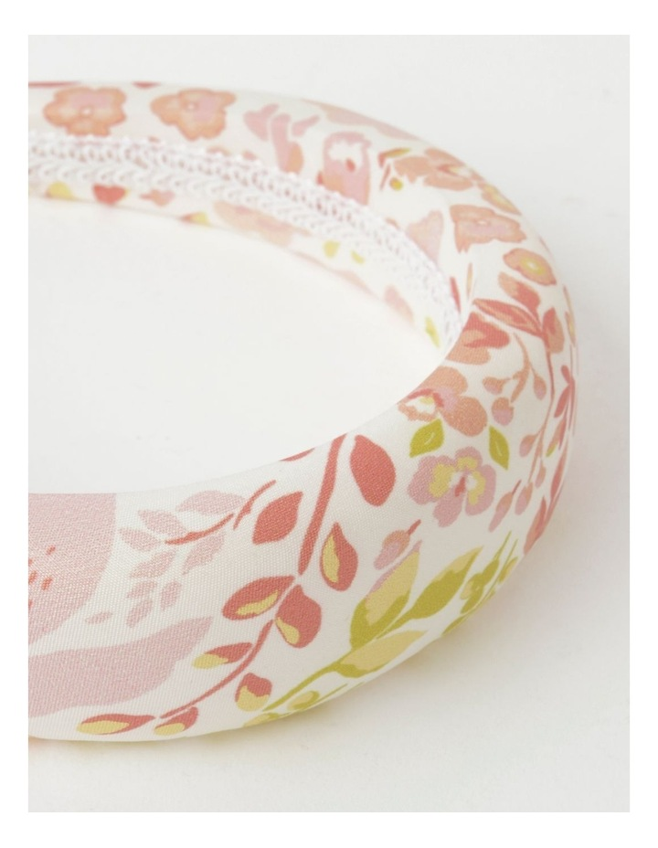 White Floral Padded Headband image 4