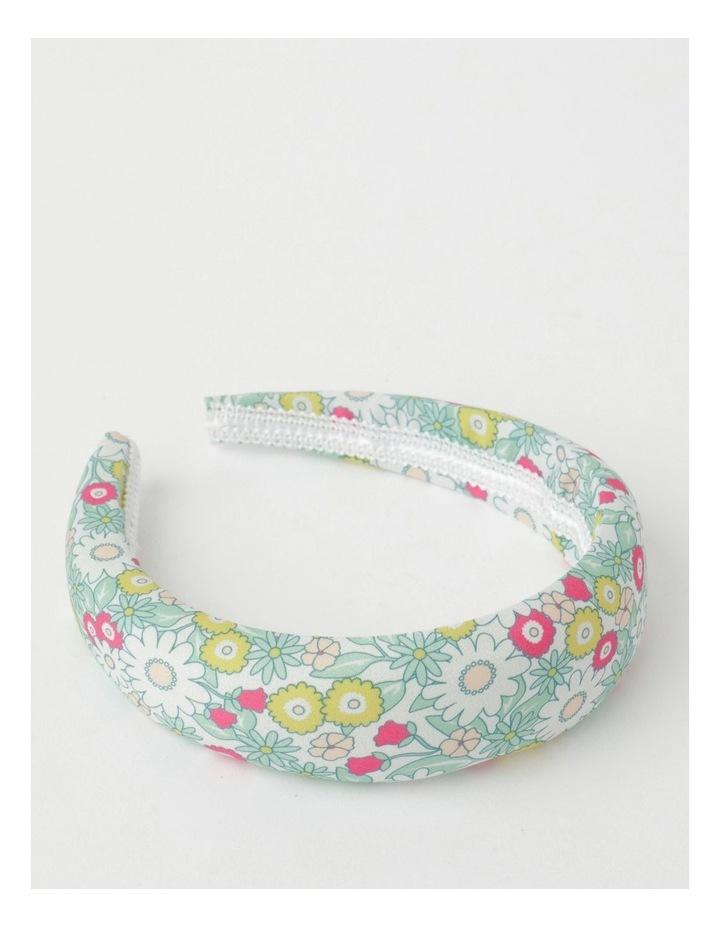 Green Floral Padded Headband image 1