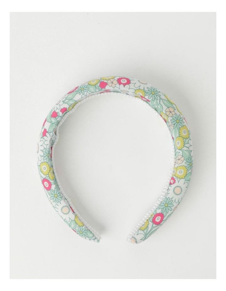 Green Floral Padded Headband image 2