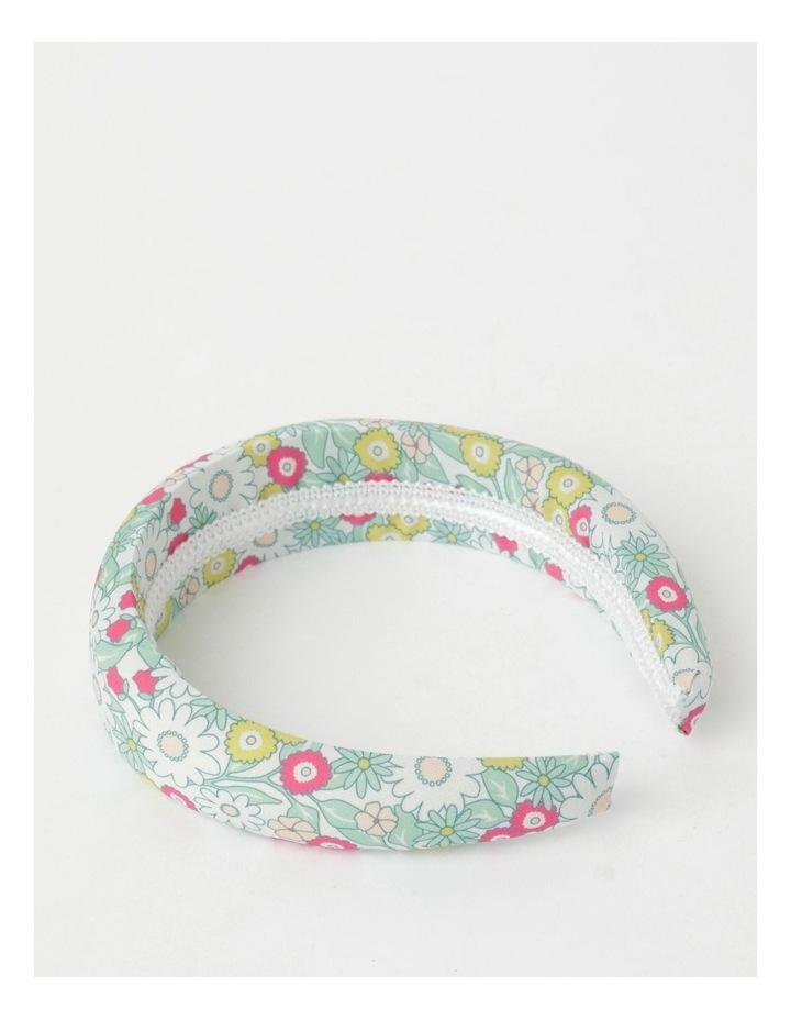 Green Floral Padded Headband image 3